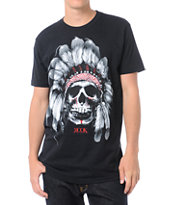 Rook Chief Skull Black Tee Shirt