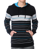Empyre Brilliant Black Striped Long Sleeve Hooded Shirt