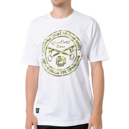 Bloodbath Camo Seal White Tee Shirt