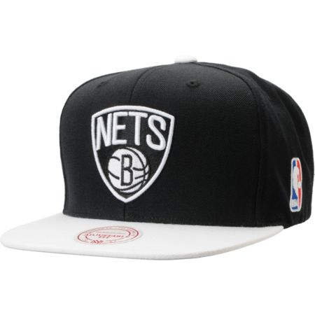 NBA Mitchell and Ness Brooklyn Nets 2Tone Black Snapback Hat