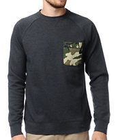 Dravus Loomis Camo Pocket Crew Neck Sweatshirt