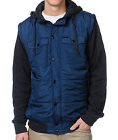Empyre Trendon Navy & Charcoal Hooded Vest Jacket