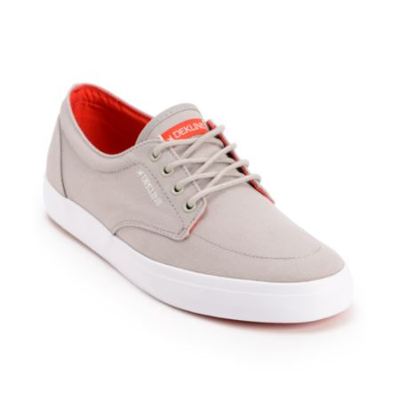 Dekline Mason Grey & Red Canvas Shoe