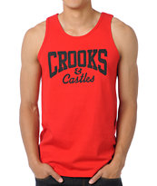 Crooks and Castles Core Logo Red Tank Top