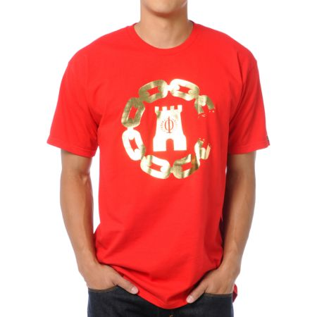 Crooks and Castles 10 Year Chain Red Tee Shirt
