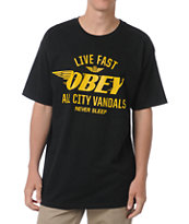 Obey All City Vandals Black Tee Shirt