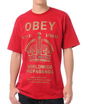 Obey Royal Mandate Red Tee Shirt