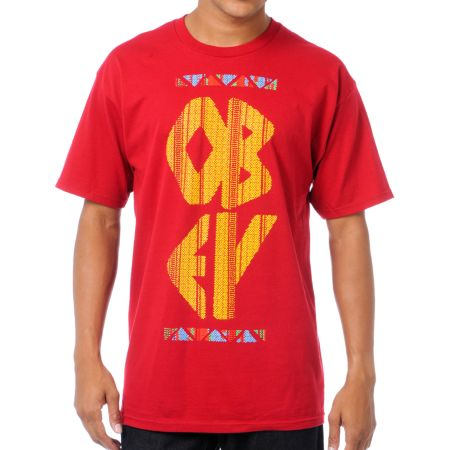 Obey The Right Thing Red Tee Shirt