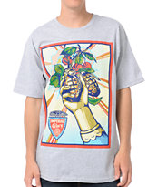 Obey Imperial Glory Heather Grey Tee Shirt