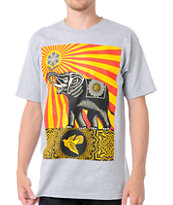 Obey Peace Elephant Grey Tee Shirt