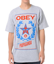 Obey Classic Crest Heather Grey Tee Shirt