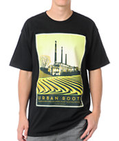 Obey Urban Roots Black Tee Shirt