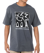 The Hundreds Scratchboard Grey Tee Shirt