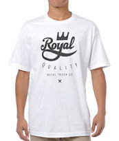 Royal Trucks Crown Crest White Tee Shirt