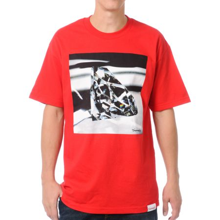 Diamond Supply Brilliant Glass Red Tee Shirt