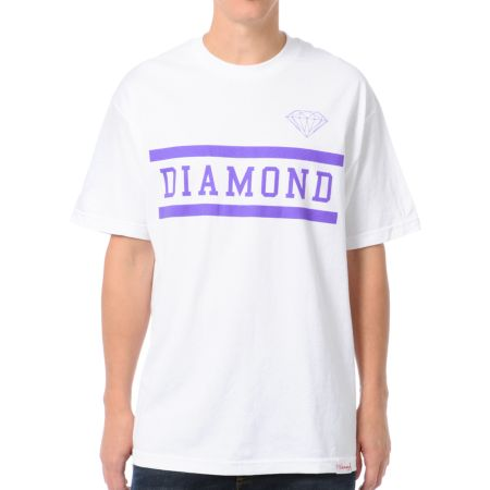 Diamond Supply Collegiate White Tee Shirt