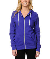 Zine Girls Deep Purple Zip Up Hoodie