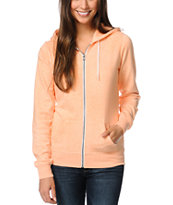 Zine Girls Peach Cobbler Full Zip Up Hoodie
