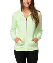 Zine Girls Patina Green Zip Up Hoodie