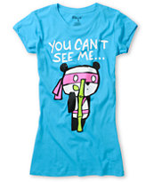 Ralik Girls Cant See Me Turquoise Tee Shirt