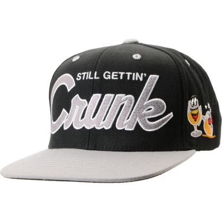 Gold Wheels Crunk Black Snapback Hat