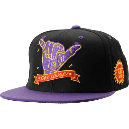 Gold Wheels Get Loose Black Snapback Hat