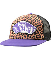 Vans Girls Beach Leopard & Purple Trucker Hat
