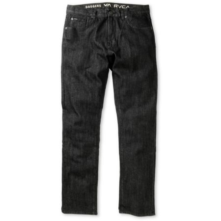 RVCA Daggers Black Wash Slim Jeans