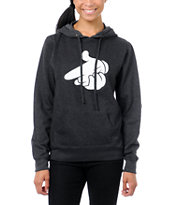 Crooks and Castles Girls Air Gun Charcoal Pullover Hoodie