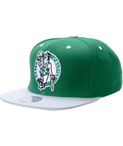 NBA Mitchell and Ness Boston Celtics Crackle Snapback