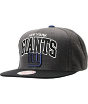 NFL Mitchell and Ness Giants Arch Logo Grey Snapback Hat