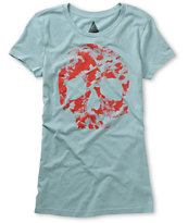 Volcom Girls Dead Sea Blue Tee Shirt