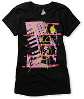 Volcom Girls Lovesound Sheer Black Tee Shirt