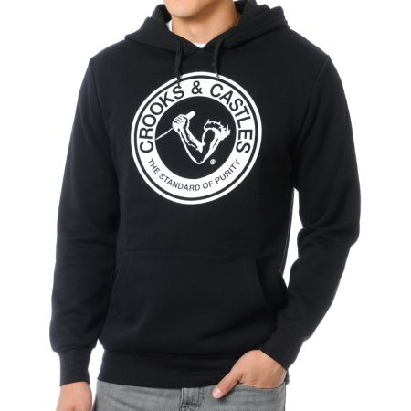 Crooks and Castles Standard of Purity Black Pullover Hoodie