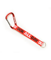 DGK All Day Red Carabiner Key Chain