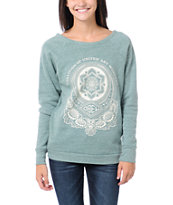 Obey United Art Workers Green Vandal Crew Neck Sweatshirt