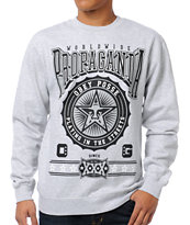 Obey Pro Bowl Grey Crew Neck Sweatshirt