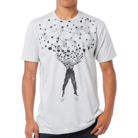 Imaginary Foundation Networked Grey Tee Shirt