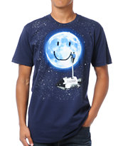 Imaginary Foundation Moon Tag Navy Blue Tee Shirt