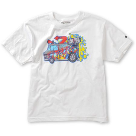 Trukfit Boys Boarderlands White Tee Shirt