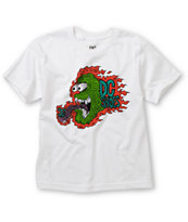 DC Boys Mad Monster White Tee Shirt