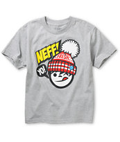 Neff Boys Yo Fresh Grey Tee Shirt