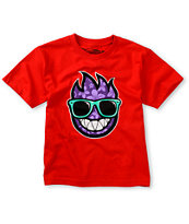 Spitfire Boys Wayfarer Red Tee Shirt