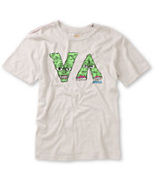 RVCA Boys VA Monster Grey Premium Fit Tee Shirt