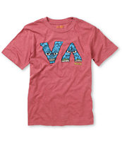 RVCA Boys VA Monster Red Premium Fit Tee Shirt