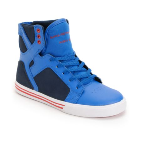 Supra Kids Skytop Royal Blue & Navy Skate Shoe