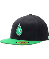 Volcom 2-Stone Black & Green Fitted Hat