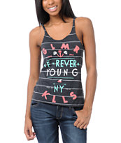 Glamour Kills Forever Young Black Stripe Tank Top