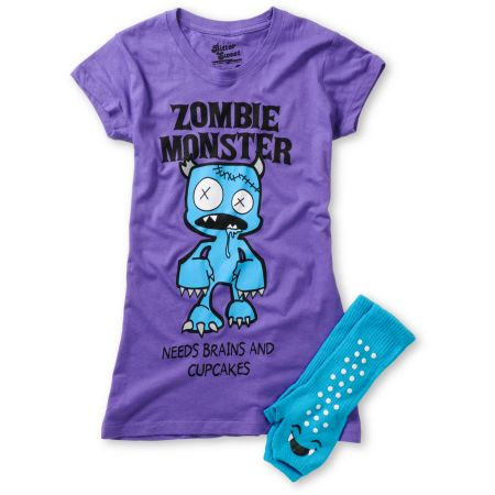 Bitter Sweet Zombie Monster Graphic Tee & Hand Warmer Pack