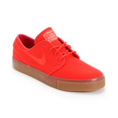 Nike SB Zoom Stefan Janoski Hyper Red/Sail Canvas Shoe